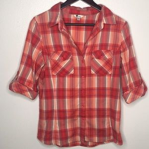 Kut from the Kloth Red Plaid Button Up SzM